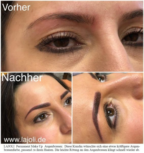 LAJOLI Augenbrauen Permanent Make-Up Bilder Hamburg - Frau Leja - Top-Elite Studio - 01/2018