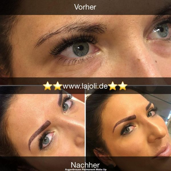 LAJOLI Augenbrauen Permanent Make-Up Bilder Hamburg - Frau Leja - Eyebrow Hamburg