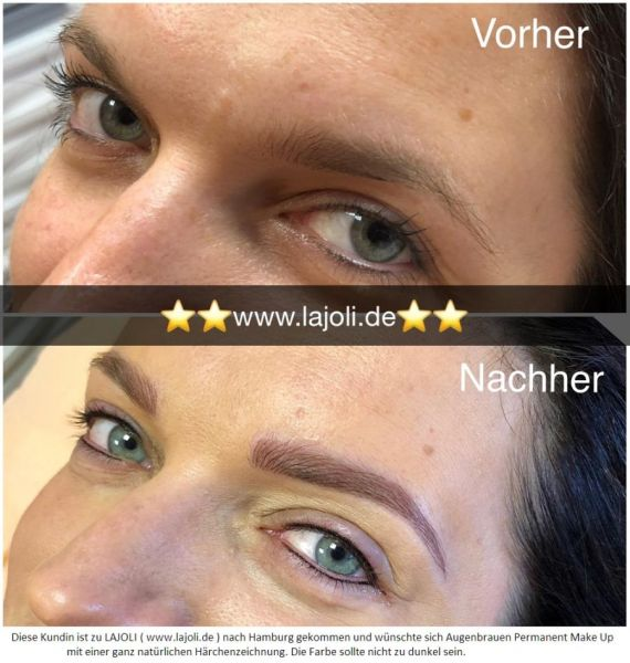 LAJOLI Augenbrauen Permanent Make-Up Bilder Hamburg - Frau Manuela Leja - Eyebrow Hamburg