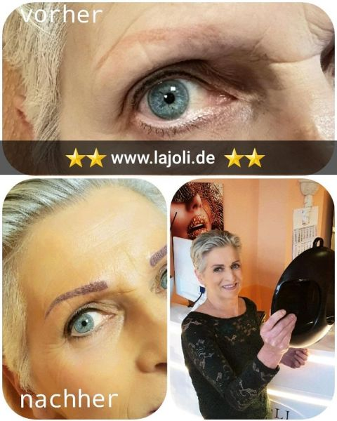 Augenbrauen Permanent Make-Up Bilder von LAJOLI Top Elite Profi M.Leja aus Hamburg - eyebrow blading