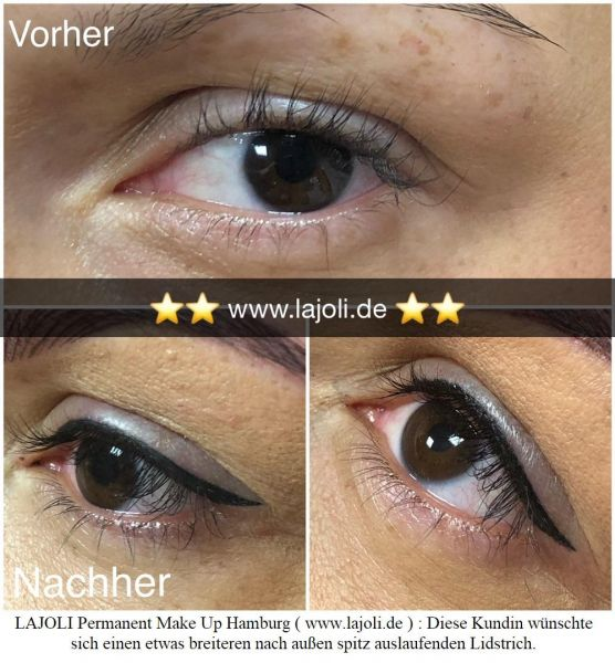 LAJOLI Bilder Permanent Make Up Lidstriche  - Top-Elite Linergistin® Manuela Leja