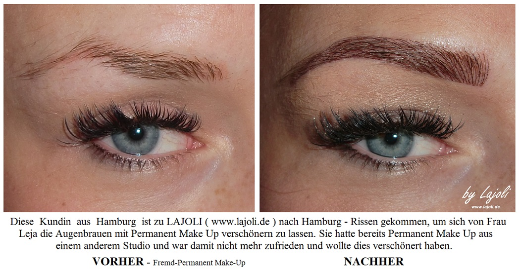 LAJOLI Augenbrauen Permanent Make-Up Bilder Hamburg - Korrektur Fremd-Permanent-Make-Up - www.lajoli.de