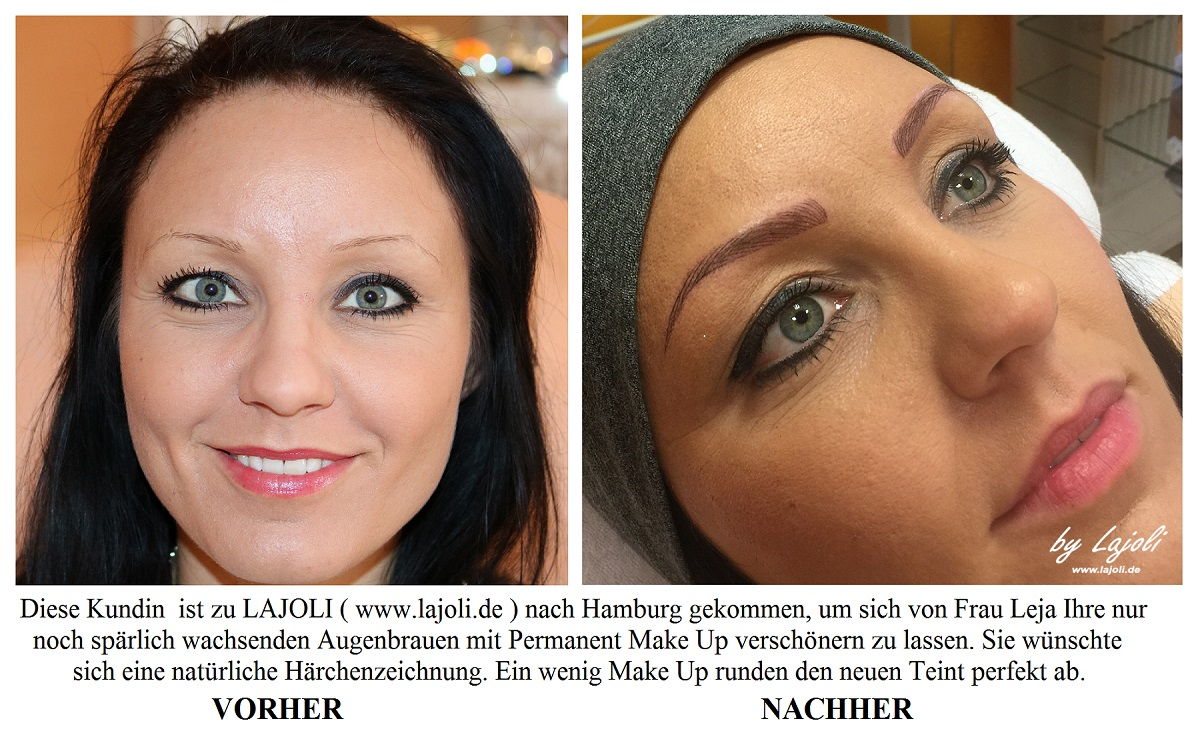 LAJOLI Augenbrauen Permanent Make-Up Bilder Hamburg - Frau Leja - Top-Elite Studio - www.lajoli.de