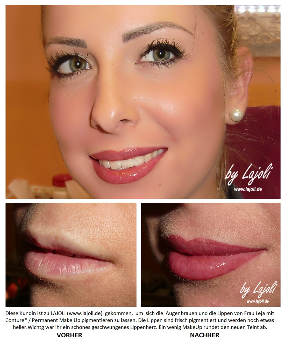 LAJOLI TOP-Elite-Studio für Permanent Make-Up, Fadenlifting und Faltenunterspritzung in Hamburg - Lippen - www.lajoli.de
