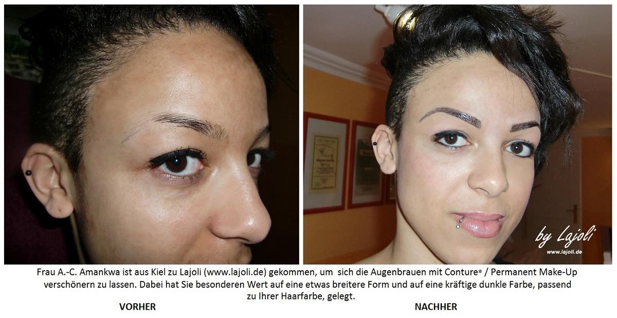 Conture permanent make up augenbrauen bilder aus dem lajoli