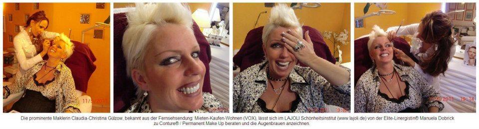 Promi Maklerin Claudia Gülzow Lässt Sich Bei Lajoli Die Augenbrauen