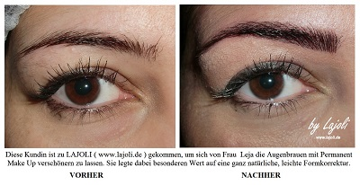 LAJOLI Augenbrauen Permanent Make-Up Bilder Hamburg