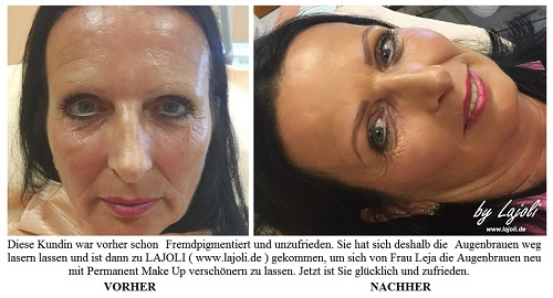 Augenbrauen Permanent Make Up Bilder ( Sep/2016 ) aus dem LAJOLI-Studio in Hamburg