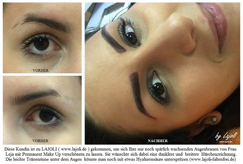 Augenbrauen Permanent Make Up Bilder ( Jun/2016 ) aus dem LAJOLI-Studio in Hamburg