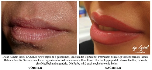LAJOLI Lippen Permanent Make-Up Bilder Hamburg