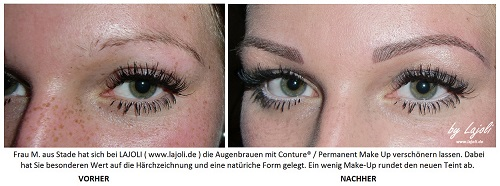 LAJOLI Permanent Make-Up Bilder Augenbrauen